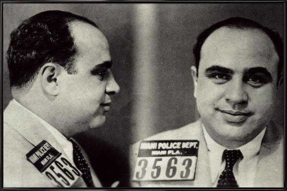 Al Capone's Mugshot affiche encadrée