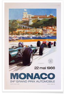 Vintage Monaco 22 May 1966 Poster