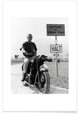 "Steve McQueen ""The Great Escape"" 1963  Poster"