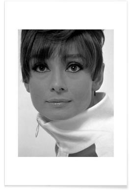 Audrey Hepburn, 1966 Vintage Photograph Poster