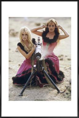 Brigitte Bardot and Jeanne Moreau, 1965 Framed Poster