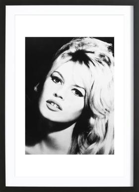 Brigitte Bardot affiche sous cadre en bois