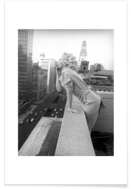 Marilyn Monroe in New York, 1955 Poster
