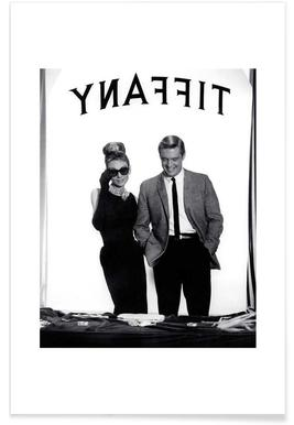 Audrey Hepburn, George Peppard in Breakfast at Tiffany's Affiche