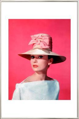 Audrey Hepburn in Funny Face, 1957 affiche sous cadre en aluminium