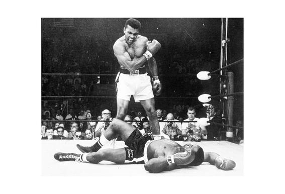 Muhammad Ali rematch with Sonny Liston, 1965 -Alubild