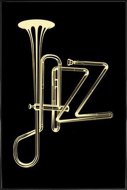 jazz poster ingelijste poster
