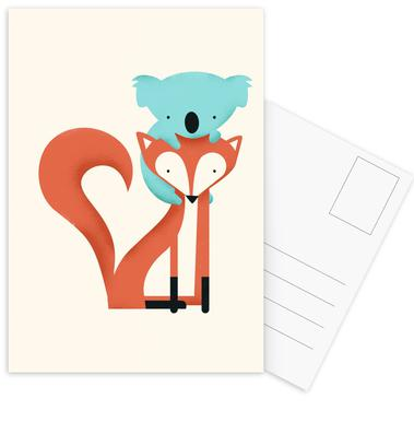 Fox and Koala Postcard Set