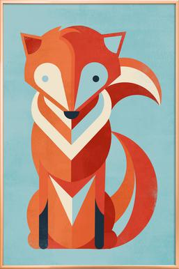 Fox affiche sous cadre en aluminium