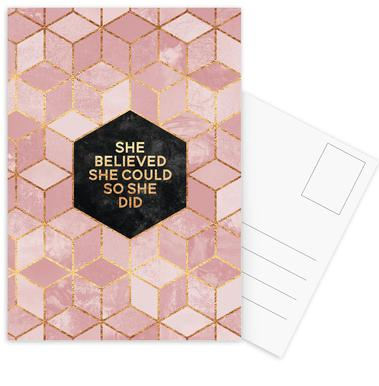 She Believed She Could -Postkartenset