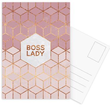 Boss Lady -Postkartenset
