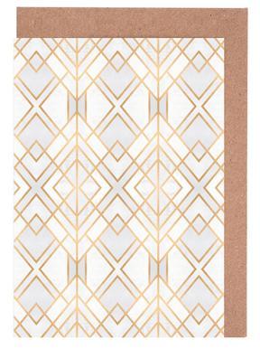 Golden Geo Set de cartes de vœux