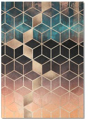 Ombre Dream Cubes Notebook