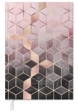 Pink Grey Gradient Cubes -Terminplaner