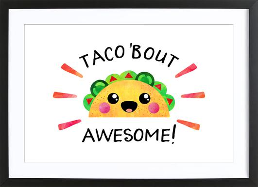 Taco Bout Awesome ingelijste print