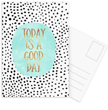 Today Is a Good Day Set de cartes postales