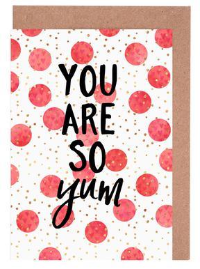 You Are So Yum Set de cartes de vœux