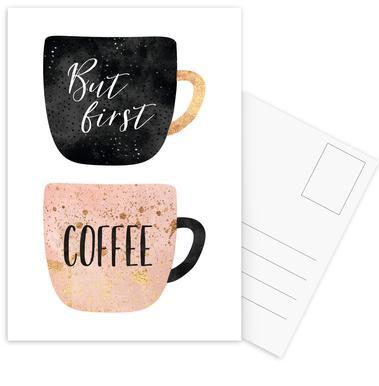 But First, Coffee -Postkartenset