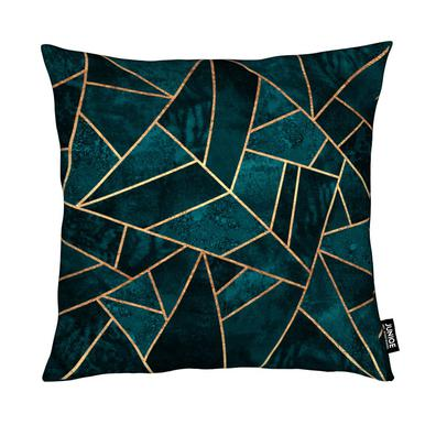 Deep Teal Stone Coussin