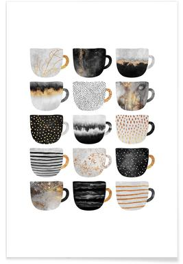 Pretty Coffee Cups 3 Poster