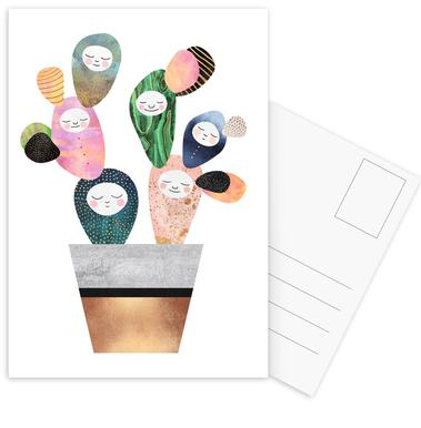 Sleepy Cactus -Postkartenset