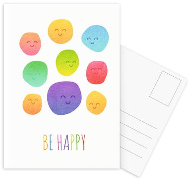Be Happy -Postkartenset