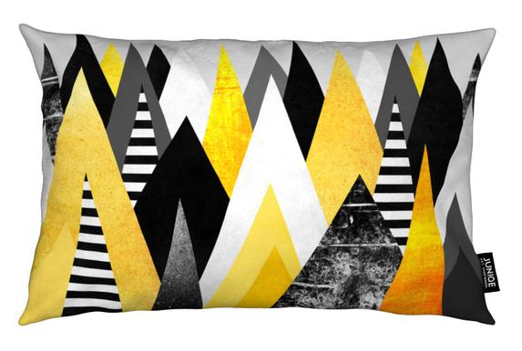 Yellow Peaks Coussin