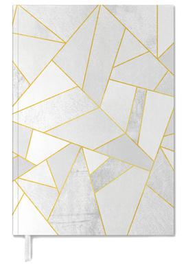 White Stone with Gold Lines agenda