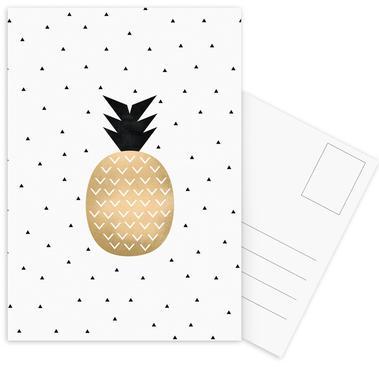 Golden Pineapple -Postkartenset