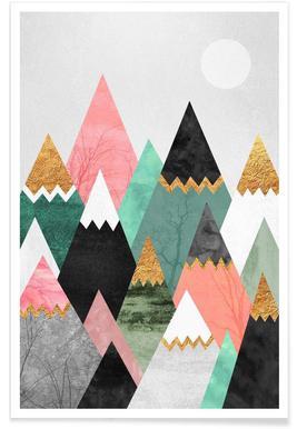 Pretty Mountains Poster