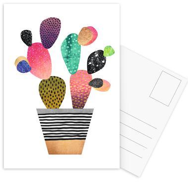 Happy Cactus -Postkartenset