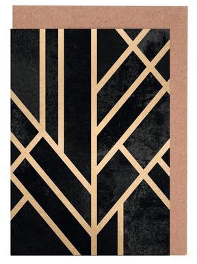 Art Deco Black Set de cartes de vœux