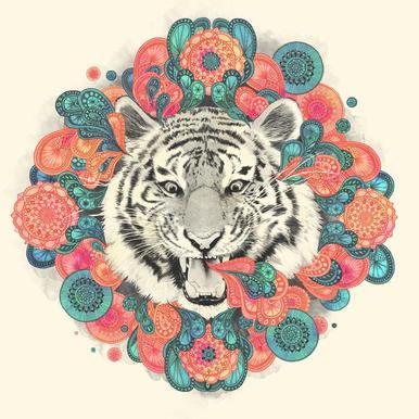 Bengal Mandala acrylglas print