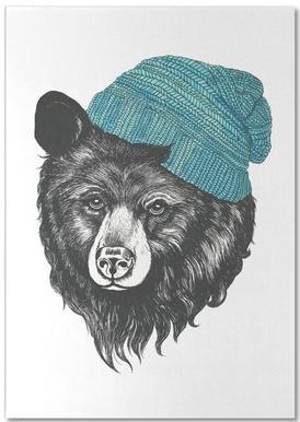 Bear Blue Notepad