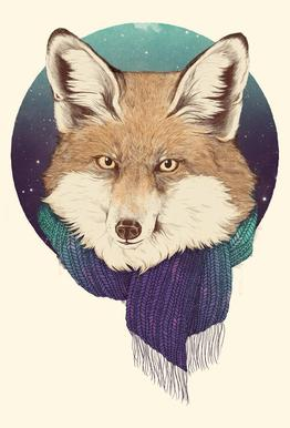 Winter Fox acrylglas print