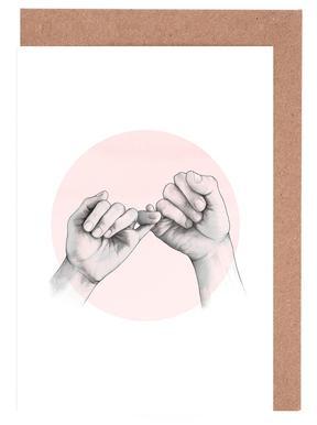 Pinky Swear Set de cartes de vœux