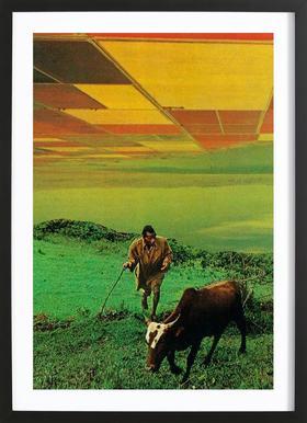 Shepherd of The Plains Poster in houten lijst
