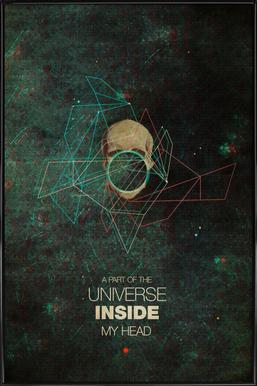 A Part Of The Universe Inside My Head Poster in Standard Frame