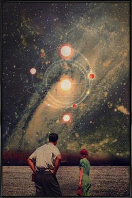 Light Explosions Framed Poster