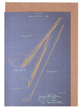Golf greeting cards juniqe golf club americanflat greeting card set m4hsunfo