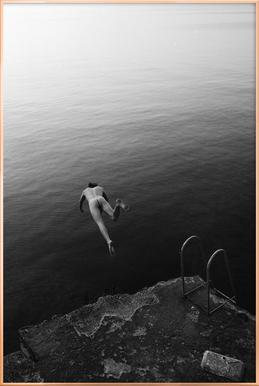 Dive -Poster im Alurahmen