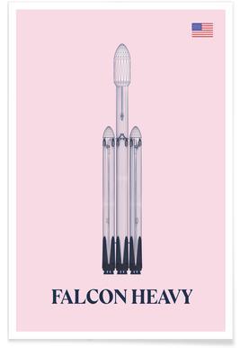 Falcon Heavy 3 affiche