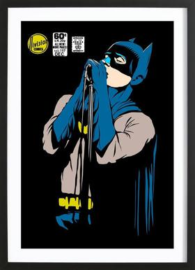 Post-Punk Dark Knight - Shadowplay ingelijste print
