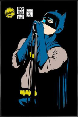 Post-Punk Dark Knight - Shadowplay Affiche sous cadre standard