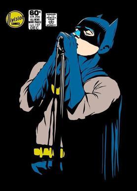 Post-Punk Dark Knight - Shadowplay canvas doek