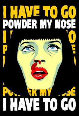 Powder My Nose Acrylglas print