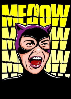 Psycho Cat canvas doek