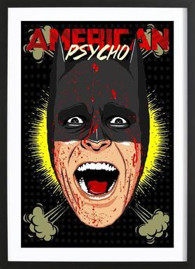 Gotham Psycho Framed Print
