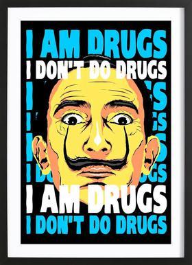 I Am Drugs Poster in houten lijst