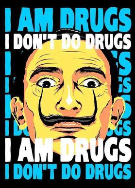 I Am Drugs canvas doek